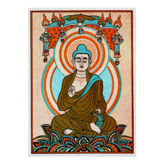 Vintage Buddha Art Print