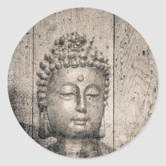 Vintage Buddha Buddhism Yoga Classic Round Sticker