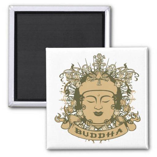 Vintage Buddha Face Magnet