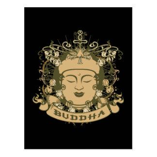 Vintage Buddha Face Postcard