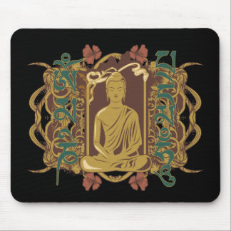 Vintage Buddha Mantra Mouse Pad