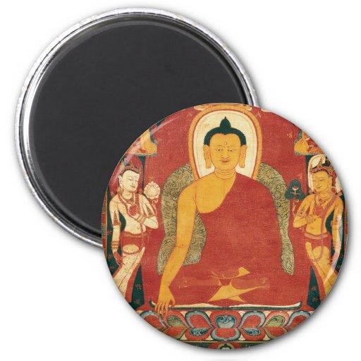 Vintage Buddha Painting Magnets
