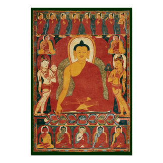 Vintage Buddha Painting Poster