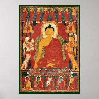 Vintage Buddha Painting Poster