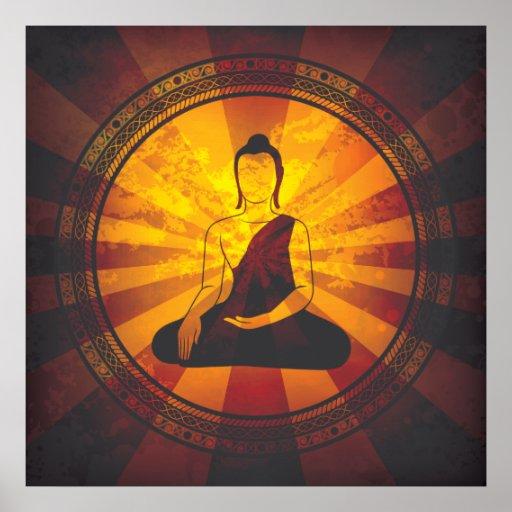 Vintage Buddha Poster
