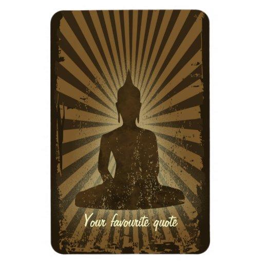 vintage Buddha Vinyl Magnet