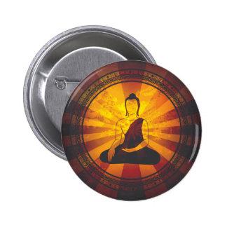 Vintage Buddha Print Button