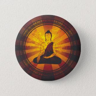 Vintage Buddha Print Pinback Button