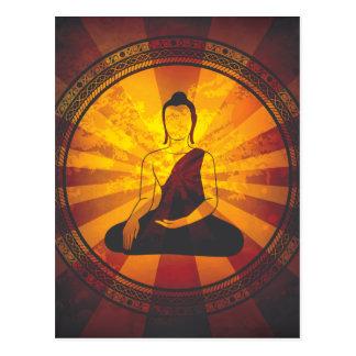 Vintage Buddha Print Postcard