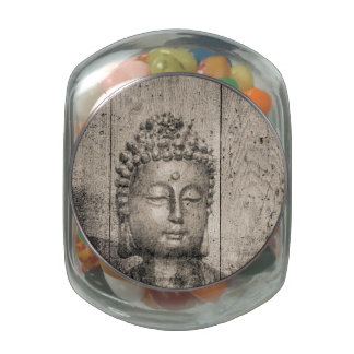Vintage Buddha Yoga Jelly Belly Candy Jars
