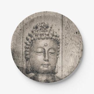 Vintage Buddha Yoga Paper Plate