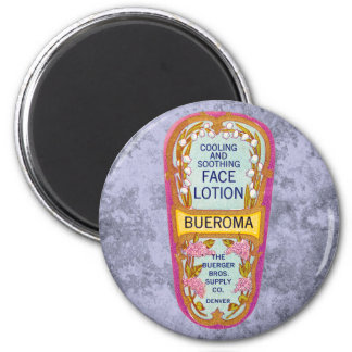 Vintage Bueroma Face Lotion Label 2 Inch Round Magnet