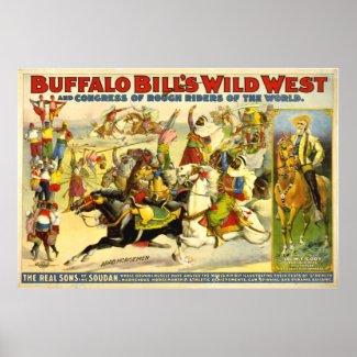 VINTAGE Buffalo Bill POSTER (repro) print