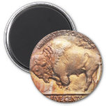 Vintage Buffalo Nickel Coin Collector Gift Magnet