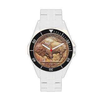 Vintage Buffalo Nickel Coin Collector Numismatist Wrist Watches
