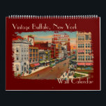 "Vintage Buffalo, NY Wall Calendar<br><div class=""desc"">This Wall Calendar has vintage and historic images of Buffalo,  NY for each month along with some history of each image. You can personalize it and chose the look of the calendar pages as well as the start and end dates on the calendar.</div>"