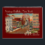 """Vintage Buffalo, NY Wall Calendar<br><div class=""""desc"""">This Wall Calendar has vintage and historic images of Buffalo,  NY for each month along with some history of each image. You can personalize it and chose the look of the calendar pages as well as the start and end dates on the calendar.</div>"""