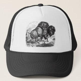 Vintage Buffalo Retro Bison Animal Illustration Trucker Hat