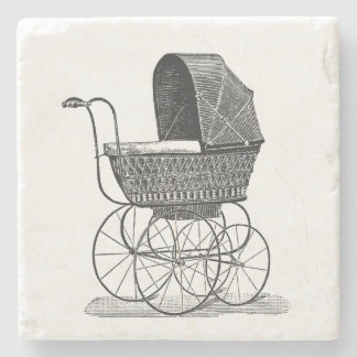 Vintage Buggy Stone Beverage Coaster
