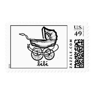 vintage buggy stamp