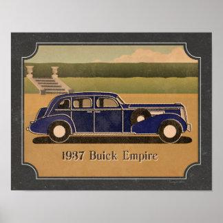 Vintage Buick 1937 Póster