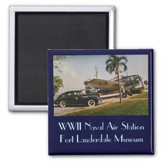 Vintage Buick & Avenger 2 Inch Square Magnet