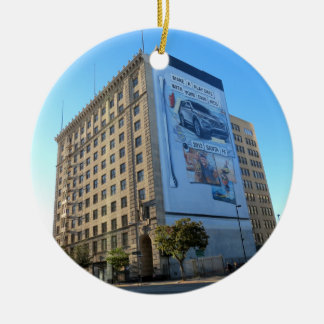 Vintage Building In Downtown LA Christmas Tree Ornament