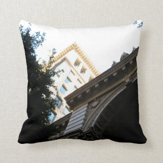 Vintage Buildings Throw Pillow