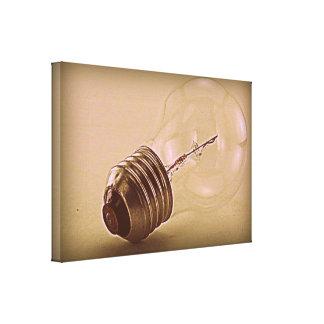 Vintage bulb impresion de lienzo