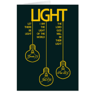 Vintage Bulbs Biblical Light Card