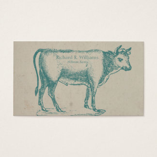 Vintage Bull Cow Business Card