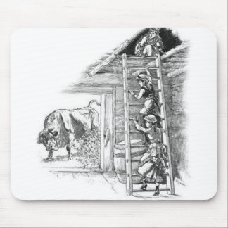 Vintage Bull in Barn Mouse Pad