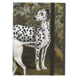 Vintage Bull Terrier and Dalmatian dog art Case For iPad Air
