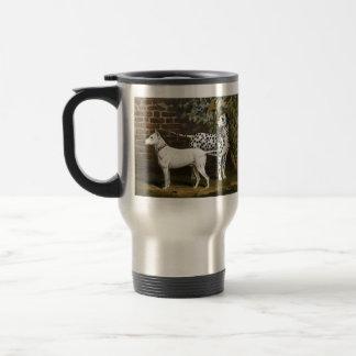 Vintage Bull Terrier and Dalmatian dog art Coffee Mugs