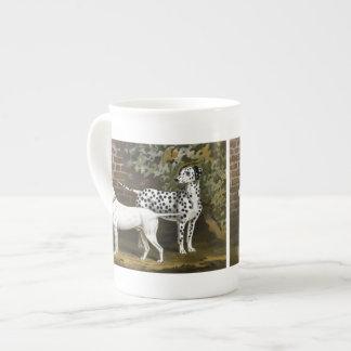 Vintage Bull Terrier and Dalmatian dog art Porcelain Mugs