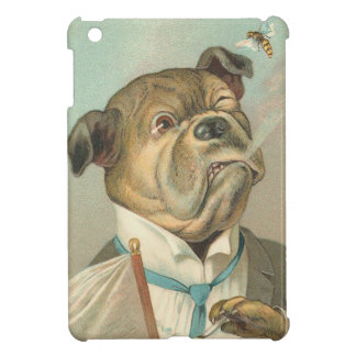 Vintage Bulldog and Bee iPad Mini Case