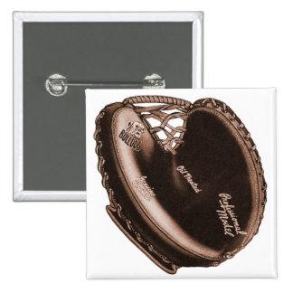 Vintage Bulldog Catcher's Mitt Baseball Glove Button
