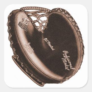 Vintage Bulldog Catcher's Mitt Baseball Glove Square Sticker