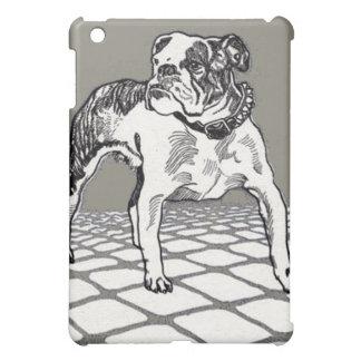 Vintage Bulldog in Black and Tan iPad Mini Covers