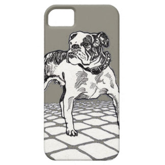 Vintage Bulldog in Black and Tan iPhone SE/5/5s Case