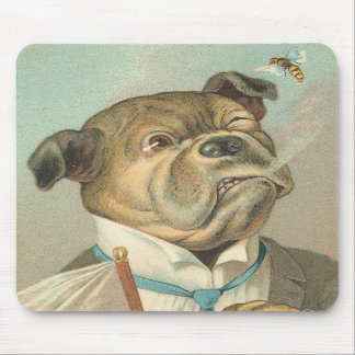 Vintage Bulldog Mouse Pads