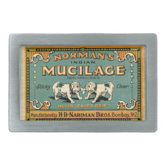 Vintage Bulldog Tape Advertisement Rectangular Belt Buckle