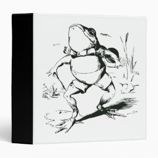 Vintage Bullfrog With Top Hat and Cane Drawing Binder