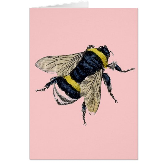 Vintage Bumble Bee Card