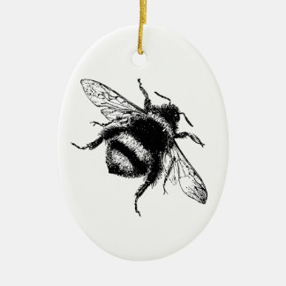 Vintage Bumble bee Ceramic Ornament