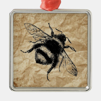 Vintage Bumble bee Metal Ornament