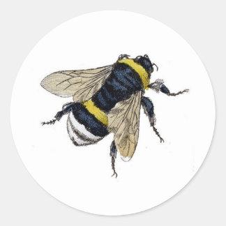 Vintage Bumble Bee Round Sticker