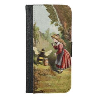 Vintage Bumble Bee Victorian Girl Honey Pot Woods iPhone 6/6s Plus Wallet Case
