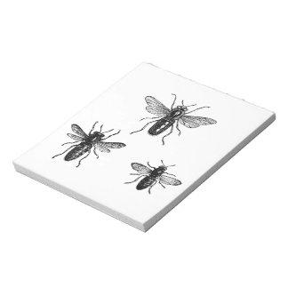 Vintage Bumblebees Notepad