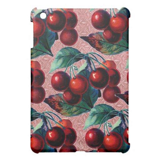 Vintage Bunch of Red Cherries Antique Fruit Design iPad Mini Cases